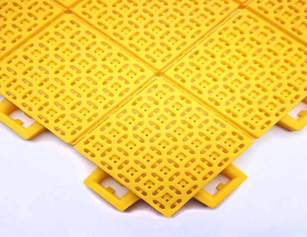 室外悬浮拼装地板 钱币纹软连接GD11